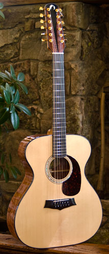 Photo of J-12 guitar - front view.