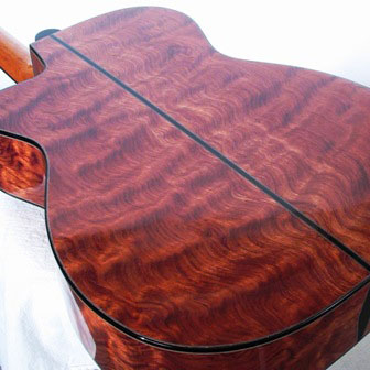 Image of Guitar with Bubinga Back